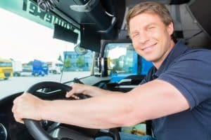 Another trucker passes his driver cpc training test